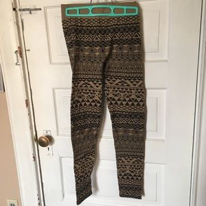Fleeced-lined leggings